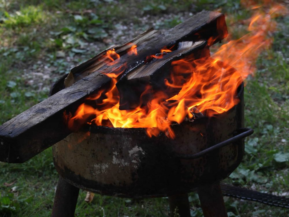 Firewood for campsite gatherings
